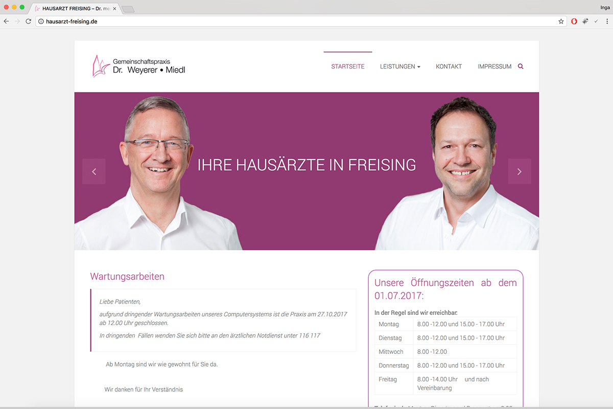 hausarzt-freising-webdesgin