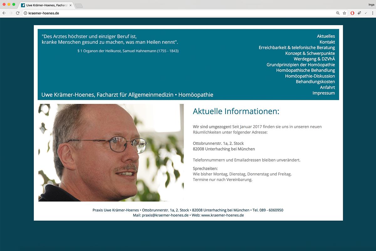 kraemer-hoenes-praxis-webdesign